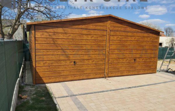 Garaż drewnopodobny – złoty dąb – 2 stanowiska