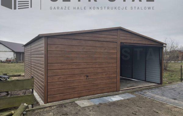 Garaż drewnopodobny – 2 stanowiska + blacho dachówka