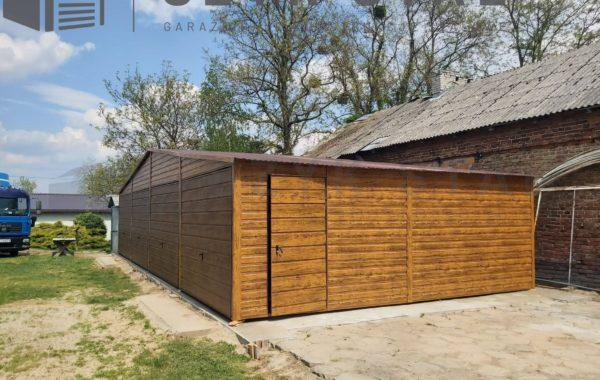 Garaż drewnopodobny złoty dąb + ciemny orzech – 4 stanowiska