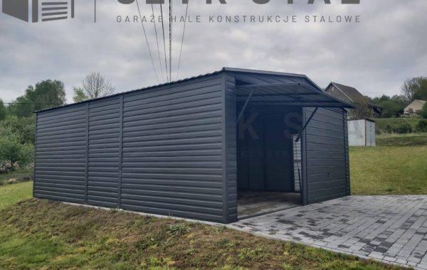 Garaż grafitowy – 2 stanowiska podwyższany