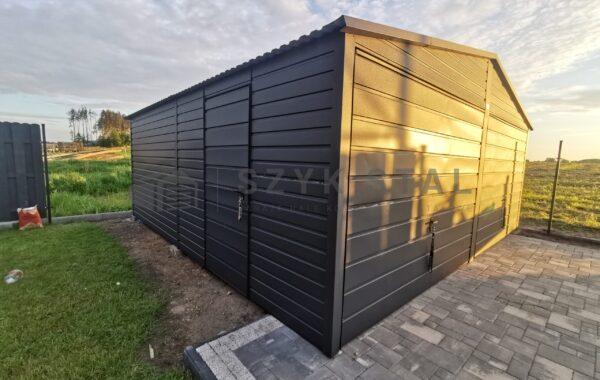 Garaż wzmacniany 6 x 5,80m, RAL7016 MAT (antracyt), powłoka anty kondensacyjna, bramy uchylne, drzwi, kotwiczenie